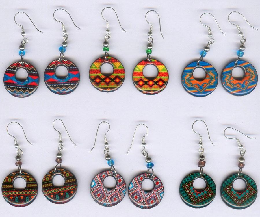 Boucles d'oreilles tribales