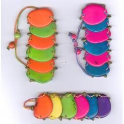 B 308 Bracelet plaques tagua et açai
