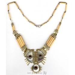 C22 Colliers corne/ bronze