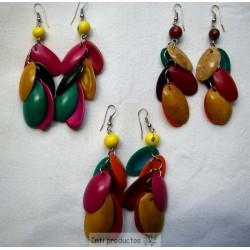 BO186 Boucles en ovales de coco