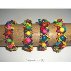 B189 Bracelet en graines Açaïs et coquillages