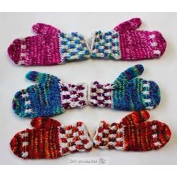 MOUFLES ENFANT MULTI Moufles Laine acrylique