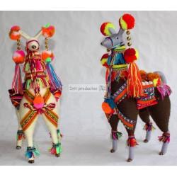 LAMA 20 Figurine lama en laine