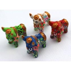 TORO PUKARA taureaux en céramique décorés