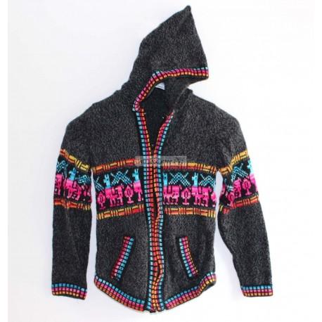 PULL CAPUCHE ENFANT du Pérou en laine