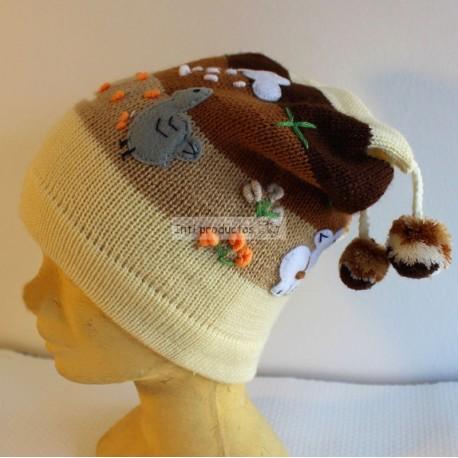 1c2043e39bf achat bonnet à oreilles du Pérou avec des pompons