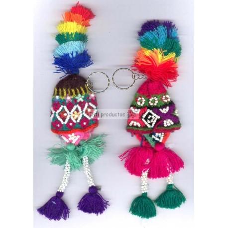 PCE13 Porte clés bonnets en laine