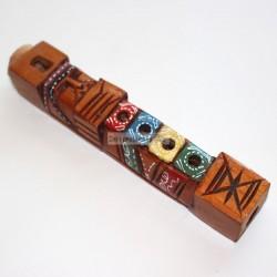 TARKA MINI Flûte en bois peinte
