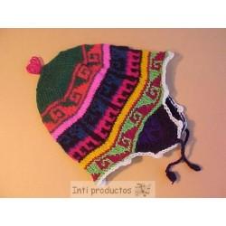 CHULLO HUANCA Bonnet acrylique bébé