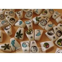 PERLES H Perles en céramique émaillée