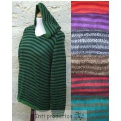 PULL RAYADO Pull capuche en laine