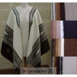 PONCHO TEX Poncho en laine naturelle