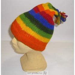 Gants du Pérou en laine multicolore authentique pas cher. b5011efb3bd