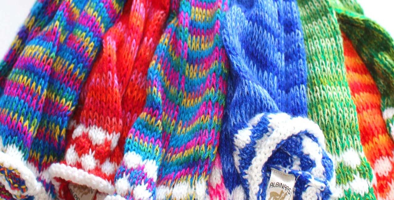 Guetres en laine colorées