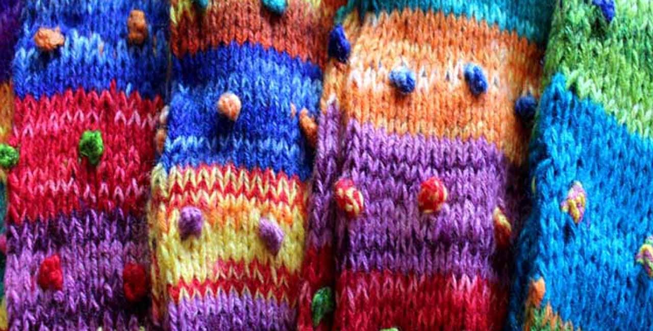 Guetres en laine colorée